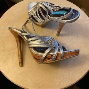 EXCHANGE by CHARLES DAVID.  Platform Silver Heels.